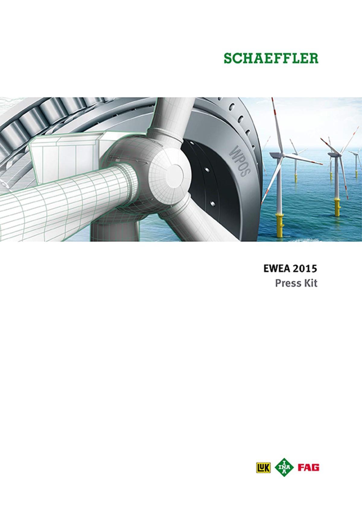EWEA 2015 Schaeffler Press Kit