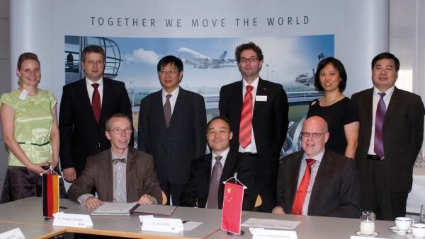 Zusammenarbeit mit Henan University of Science and Technology (HUST): Vertragsunterzeichnung in Schweinfurt