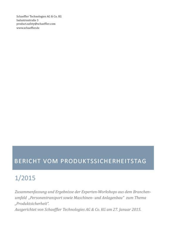 Produktsicherheitstag - Ergebnisse
