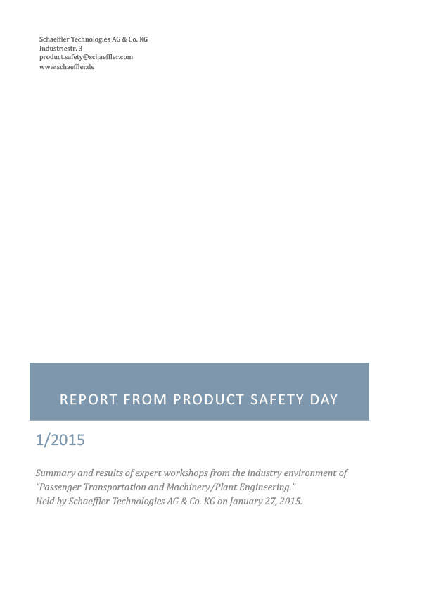 Product Safety Day - Results