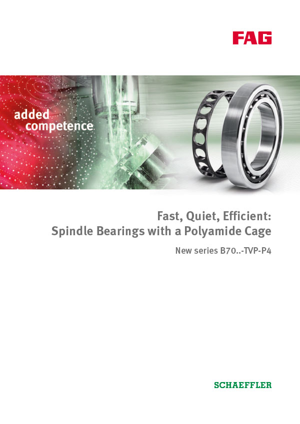 Spindle Bearings with a Polyamide Cage