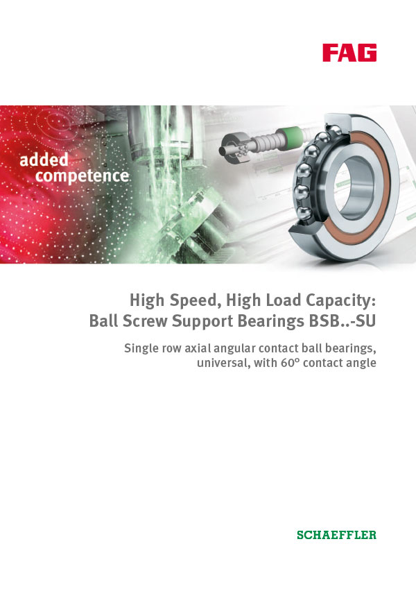 Ball Screw Support Bearings BSB..-SU