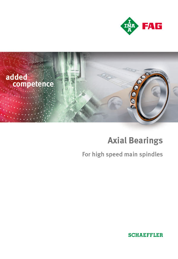 Axial Bearings For high speed main spindles