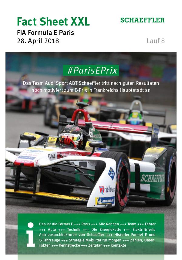 Formula E Paris 2018 Fact Sheet Xxl Schaeffler Group