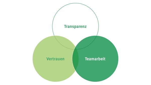 Transparenz, Vertrauen und Teamarbeit