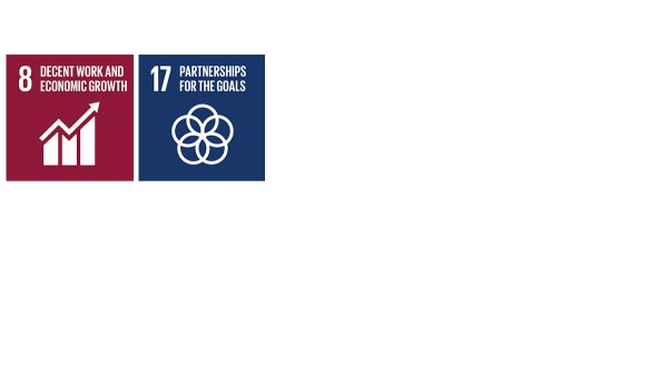 """With its activities and measures in the strategy and management field of action, Schaeffler contributes to the Sustainable Development Goals (SDGs) """"decent work and economic growth"""" (SDG 8) as well as """"partnerships for the goals"""" (SDG 17)."""