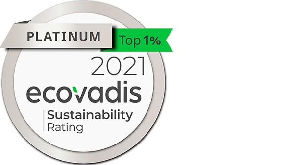 Schaeffler sustainability: Ecovadis Platinum status   75/100 Points (2020)