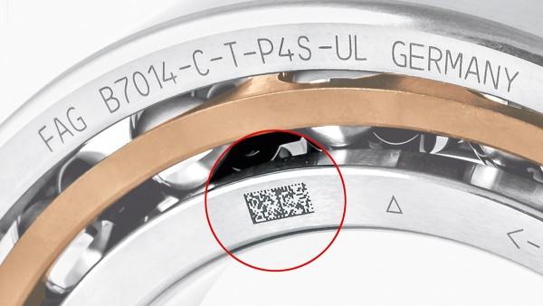 Der Schaeffler Data-Matrix-Code lässt sich direkt mit einem Laser auf ein Produkt einbrennen und ermöglicht eine international standardisierte Identifikation und Rückverfolgung.