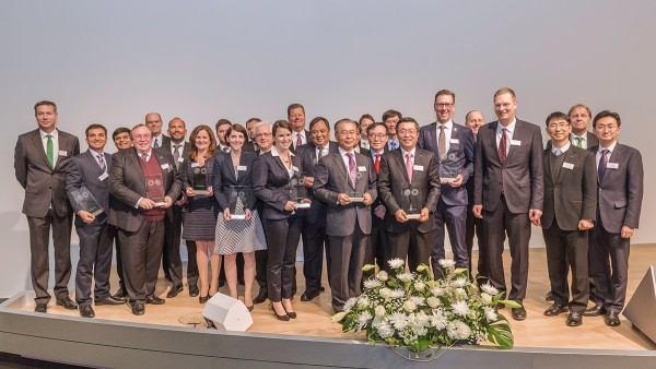 The award-winning suppliers with Oliver Jung, Chief Operating Officer and Michael Hartig, Head of Corporate Purchasing.