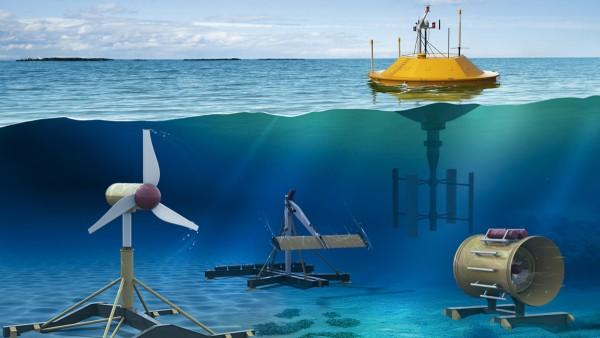 Strömungs- und Wellenenergie