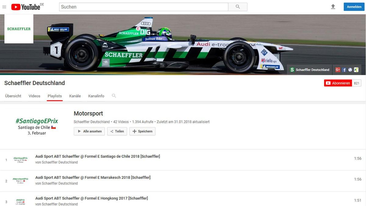 Alle Filme zu Schaeffler im Motorsport finden Sie auf dem YouTube-Kanal von Schaeffler.
