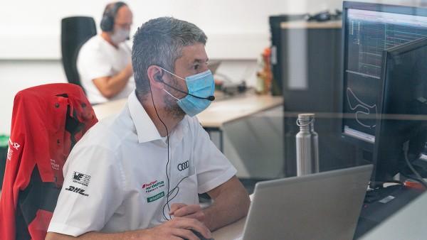 Mission control in Neuburg at Audi Sport
