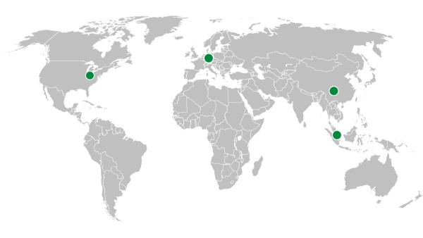 SHARE-Netzwerk: SHARE at KIT +  SHARE at FAU (Deutschland),  SHARE at NTU (Singapur), SHARE at SWJTU (China)
