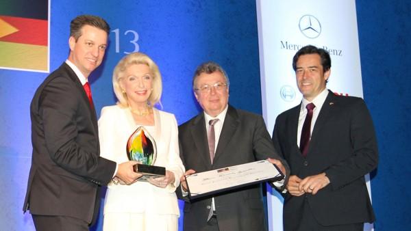 Maria Elisabeth Schaeffler recibe el premio Personalidad Brasil Alemania.