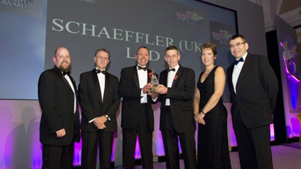 Schaeffler UK's manufacturing plant in Llanelli wins the Manufacturing Prize at the Wales Quality Award Ceremony.