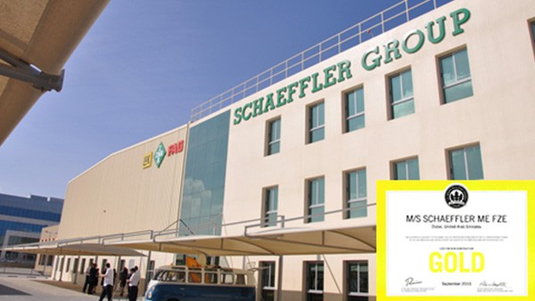 Schaeffler Middle East FZE received GOLD certificate in an internationally recognized certification system LEED (Leadership in Energy and Environmental Design) for green building.