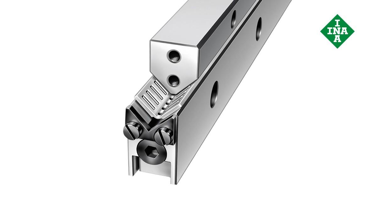Schaeffler lineer kılavuzları: Açılı düz kafesli M ve V kılavuz yolları