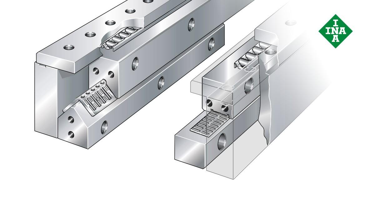 Schaeffler lineærføringer: Omgrepssystem med nålerulle- eller sylinderrullebånd