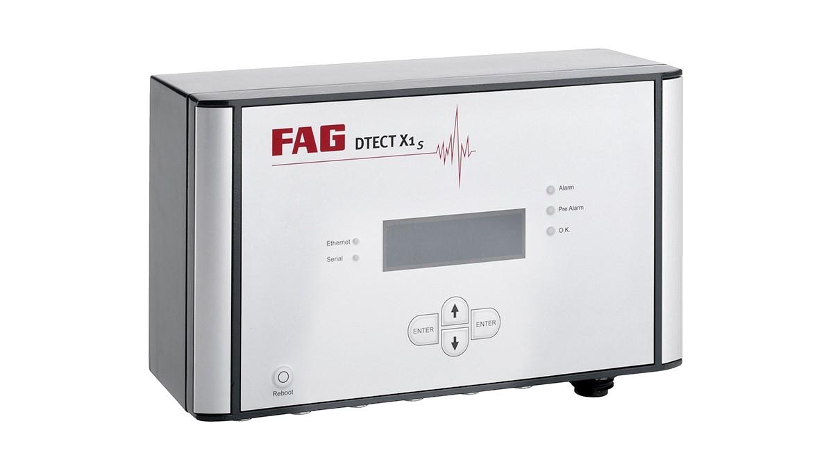 FAG DTECT X1 to elastyczny system online do monitorowania obracających się elementów oraz elementów w przemyśle maszyn i urządzeń.