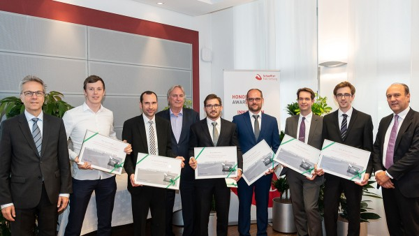 Six young scientists received the Schaeffler FAG Foundation's 2017 Innovation Award.