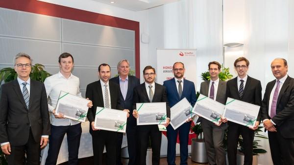 Sechs Nachwuchswissenschaftler erhielten den Innovation Award 2017 der Schaeffler FAG Stiftung.