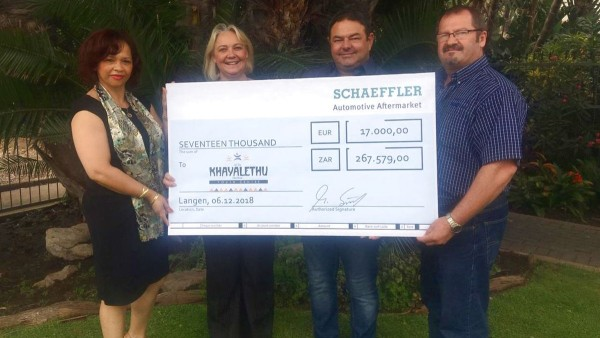 Schaeffler donates 25,500 euros to charity project in South Africa