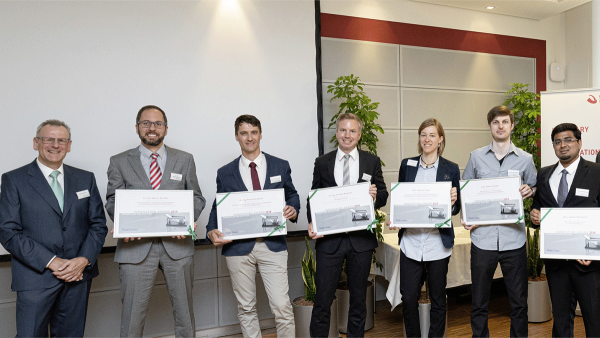 Six young scientists received the Schaeffler FAG Foundation's 2018 Innovation Award.
