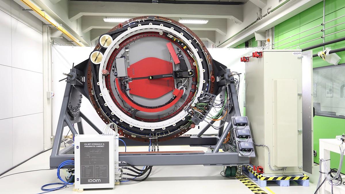 Wichtiger Präzisionsmechanismus: Der Instrumentenrotator steuert die Teleskopkamera.