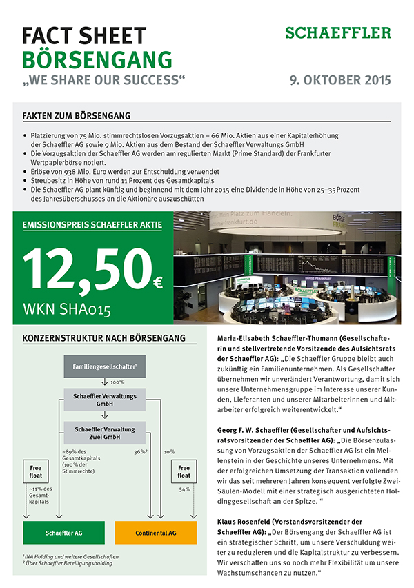 Fact Sheet Börsengang