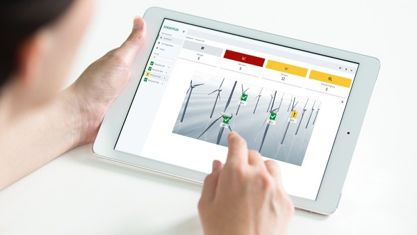 """Schaeffler offers various digital services, i.e. the """"automated rolling bearing diagnosis""""."""