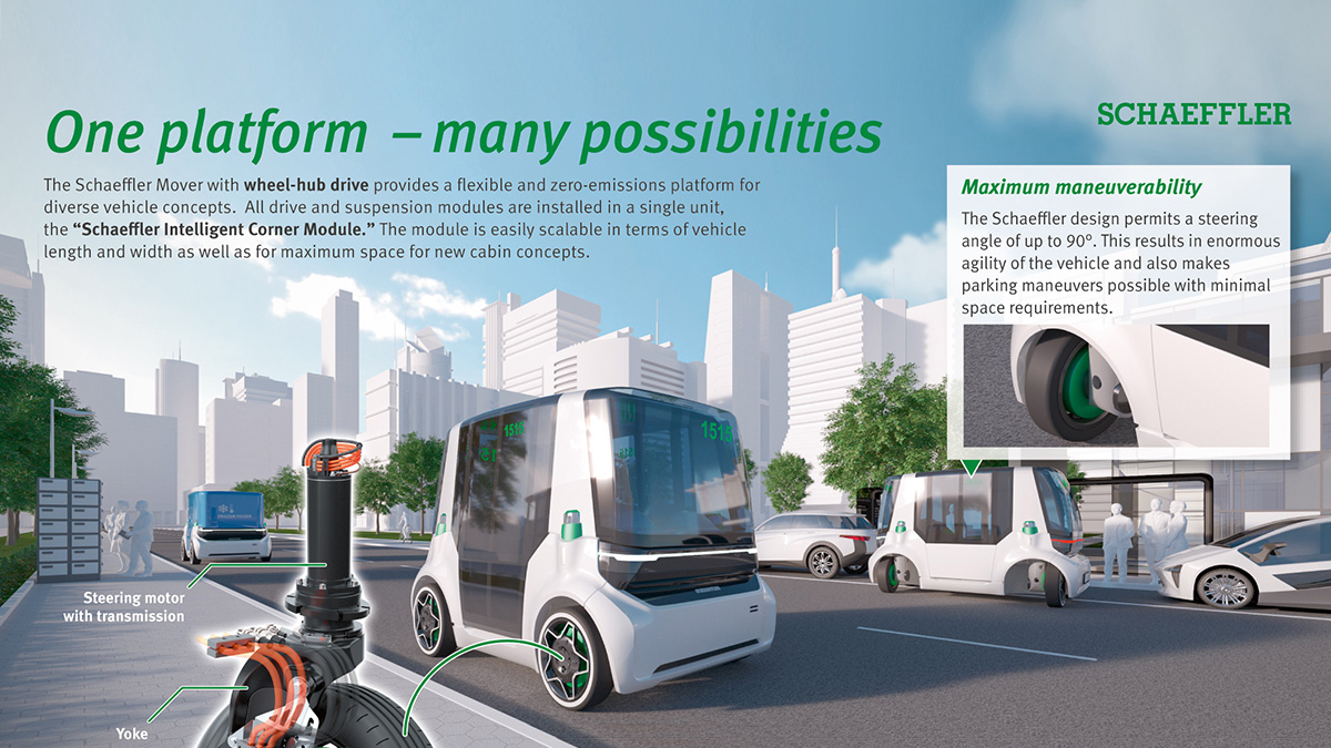 """Urban Vehicle Concept for the Future:  """"Schaeffler Mover"""" Powered by Innovative Wheel Modules"""