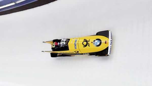 With a maximum weight of 390 kilograms, the two-man bobsled speeds through the ice channel. Nico Walther reached a speed of 130 km/h in Altenberg.